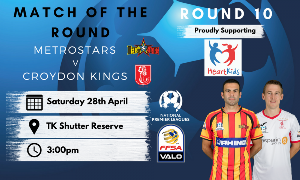 NPL SA Round 10 - Proudly presented by HeartKids