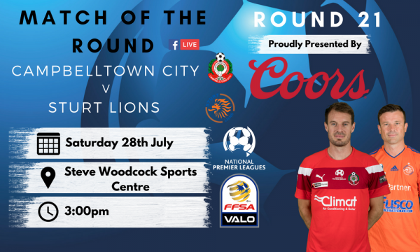 NPL SA Round 21 - Proudly presented by Coors