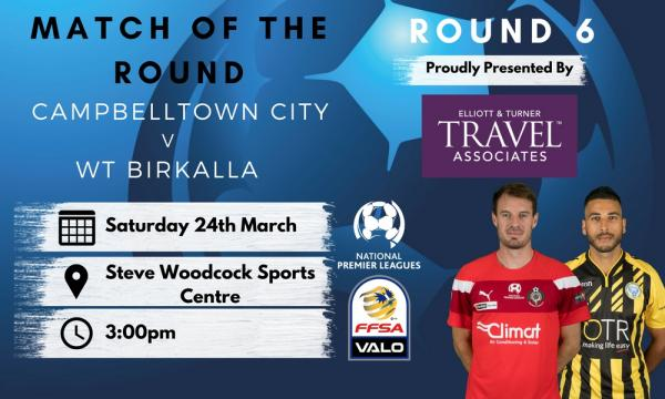 NPL SA Round 6 - Proudly presented by Elliott and Turner Travel Associates
